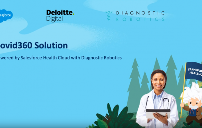 COVID360 - powered by Salesforce Health Cloud with Diagnostic Robotics
