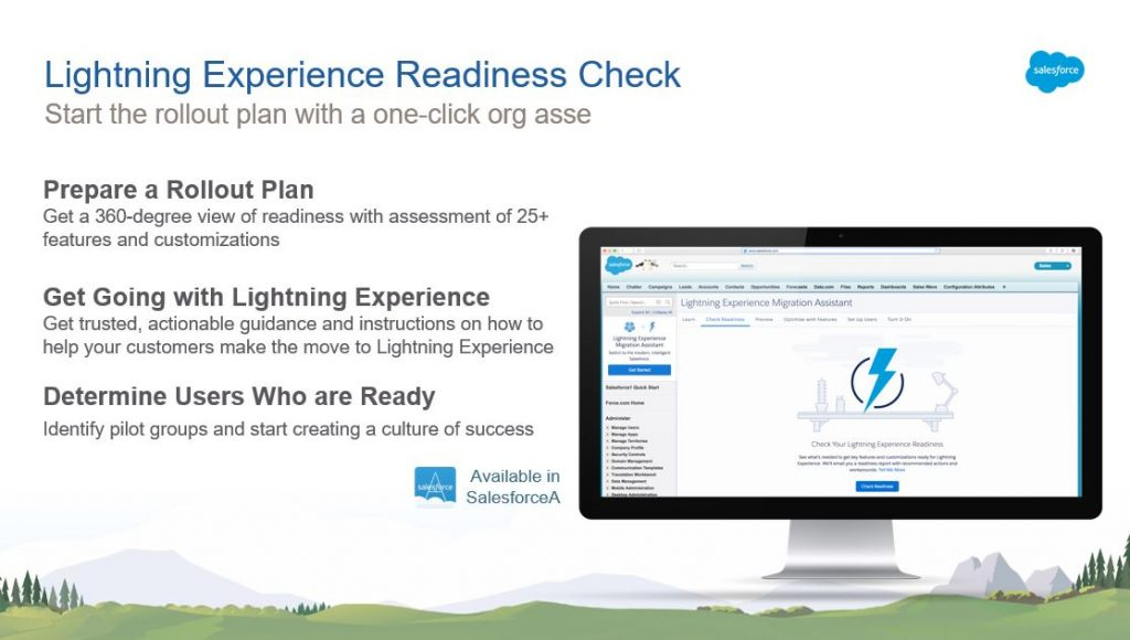 Lightning Experience Readiness Check für das UpGrade Classic2Lightning