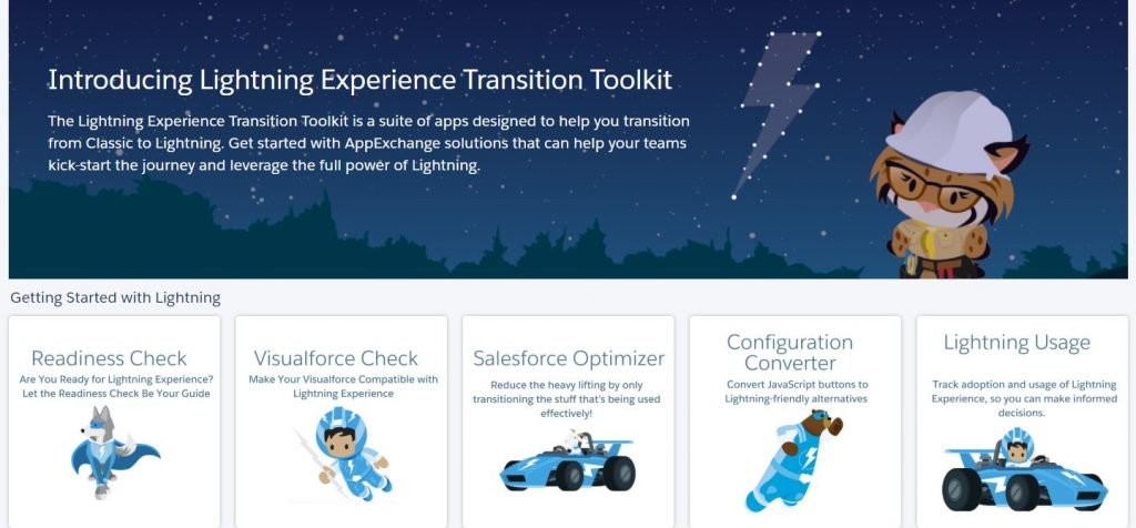 Lightning Experience Transition Toolkit für ein UpGrade Classic2Lightning