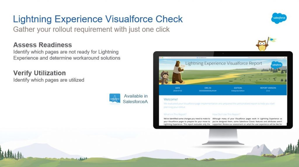 Lightning Experience Visualforce Check für ein UpGrade Classic2Lightning