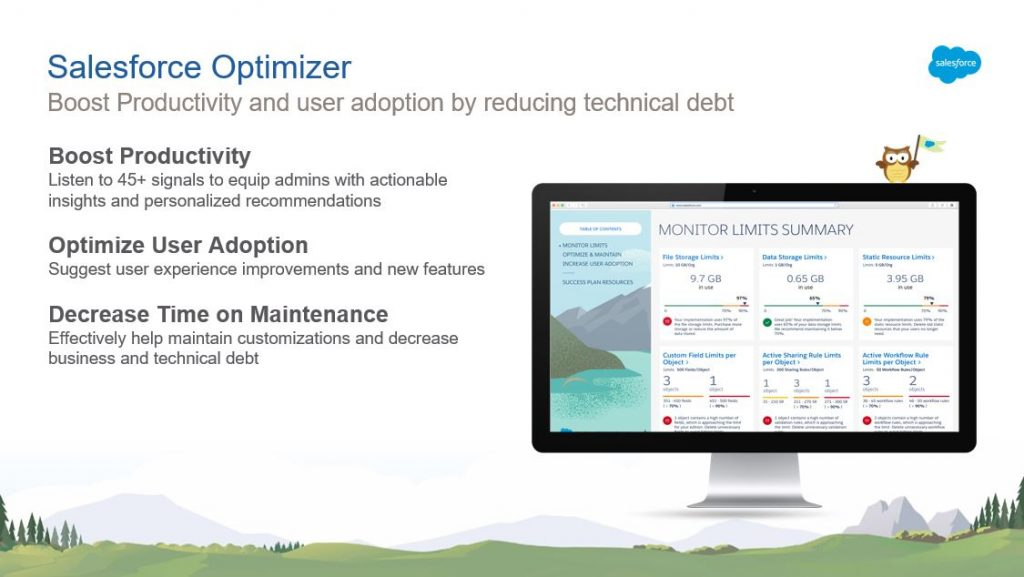 alesforce Optimizer Report für das UpGrade Classic2Lightning