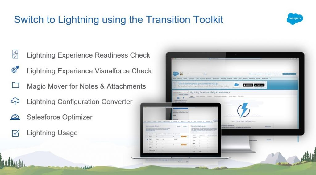 Transition Toolkit für das UpGrade Classic2Lightning