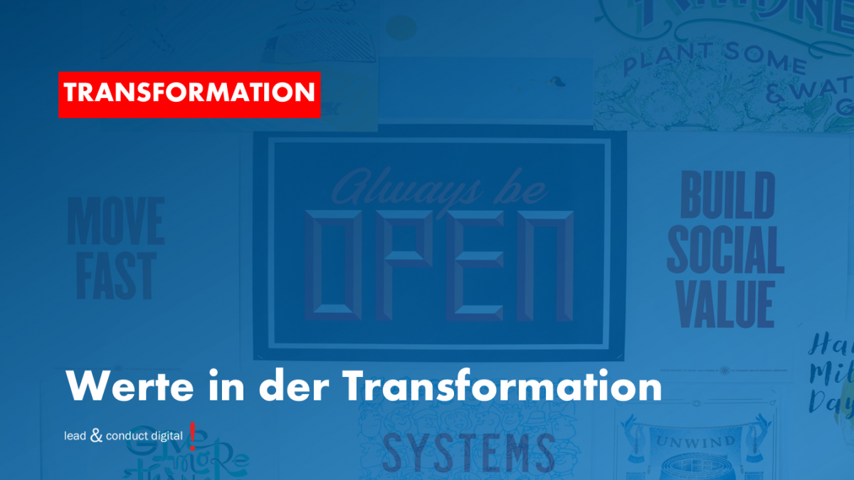 Werte in der Transformation